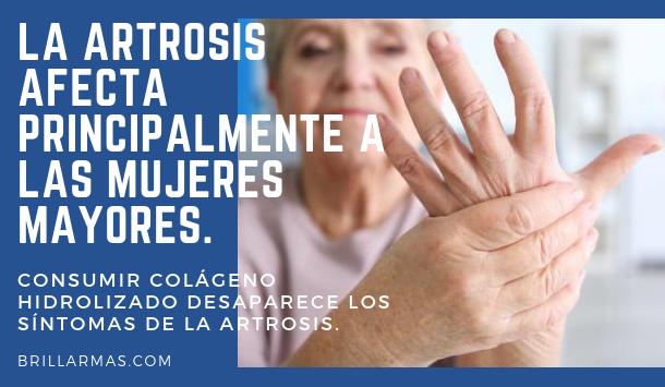 La artrosis afecta principalmente a las mujeres mayores.