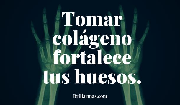 Tomar colágeno fortalece huesos