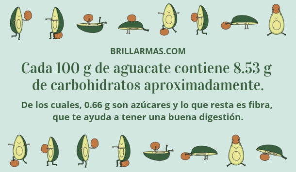 aguacate carbohidratos