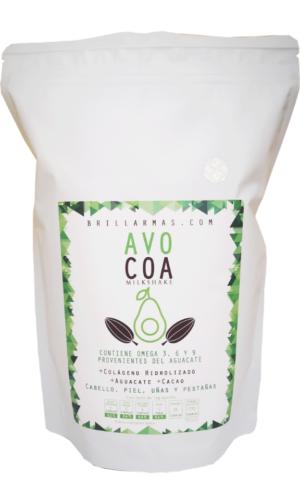Colágeno Avocoa con antioxidantes y omegas sabor chocolate 450 g