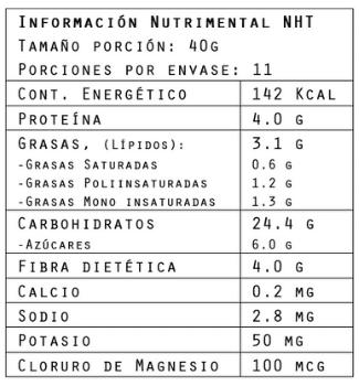 Información nutrimental del Hot-Cake sabor plátano Banana 440 g de Brillarmas