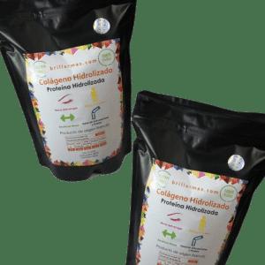 Dos bolsas de colágeno hidrolizado puro 500 g de Brillarmas