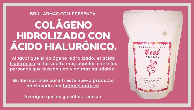 Colágeno hidrolizado con ácido hialurónico Beet collagen de Brillarmas.com